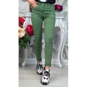 дънки зелени с кант