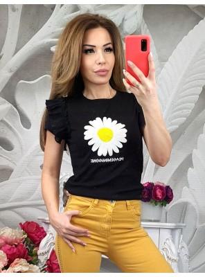 тениска с маргаритка