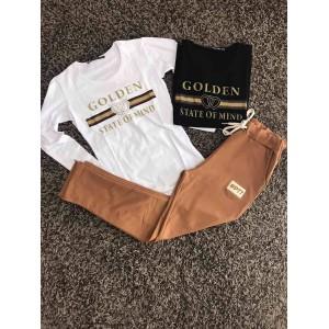 комплект golden черна блуза