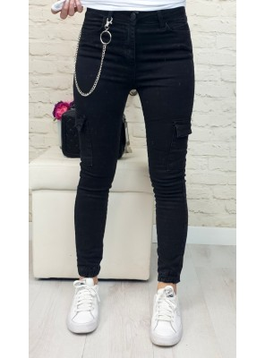 панталон bella черен