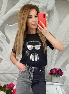 тениска KL черна