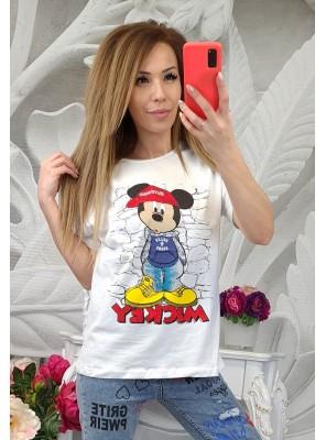 тениска мики с шапка