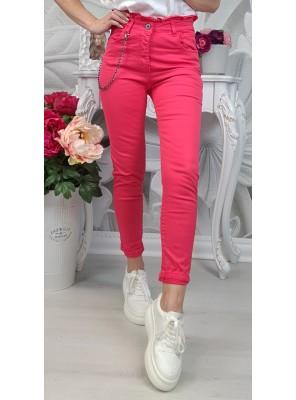 панталон с верижка розов