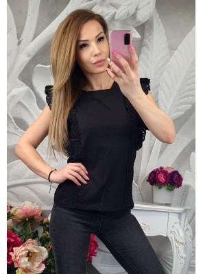 блуза кари черна