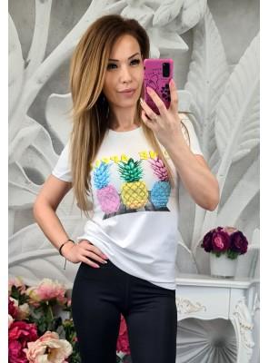 тениска с цветни ананаси