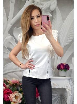 блуза кари бяла