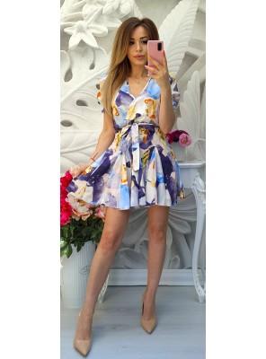 рокля цветни петна 1