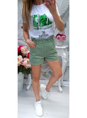 тениска зелени кецове