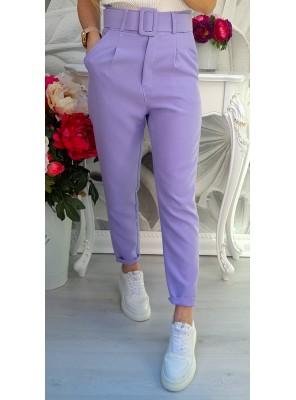 панталон с колан лилав