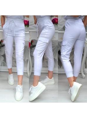 панталон с връзки бял