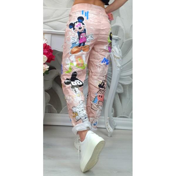 панталон мики светло розов