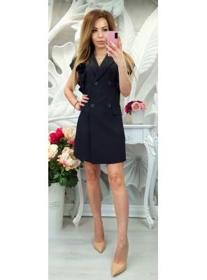рокля с копчета черна