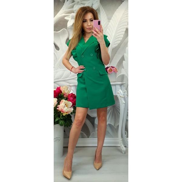 рокля с копчета зелена