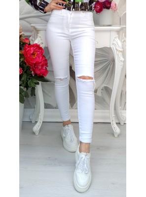 панталон бял с цепки