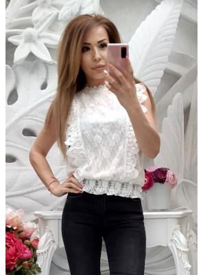 блуза амбра бяла