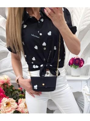 риза черна с чантичка