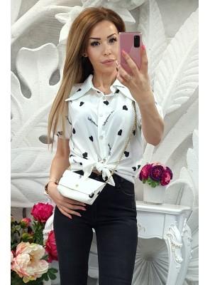 риза бяла с чантичка