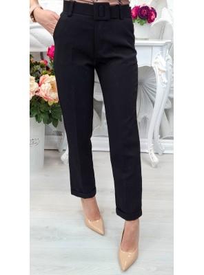 панталон с колан черен