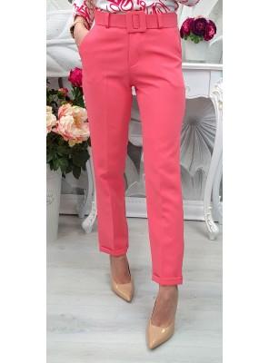 панталон с колан розов