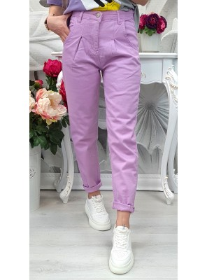 панталон светло лилав