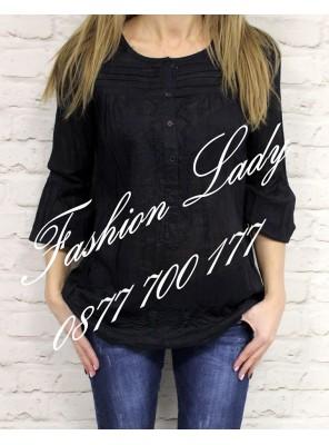 риза Мода черна