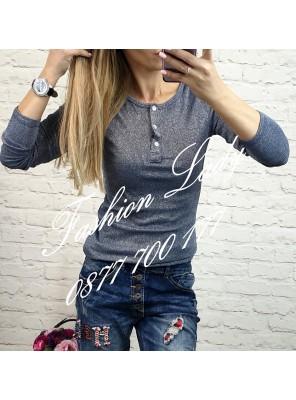 блуза сива с копчета