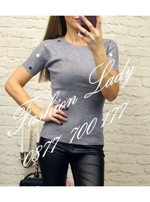 блуза даниела сива