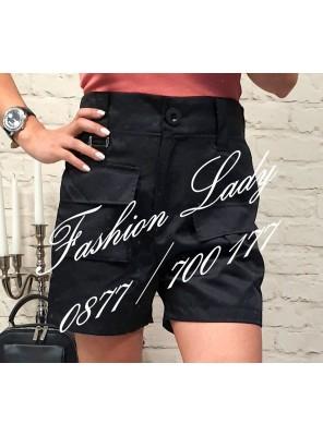 панталонки къси черни с джобчета